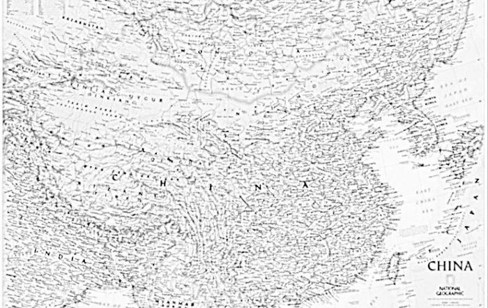 Mappa Carta Antica della Cina